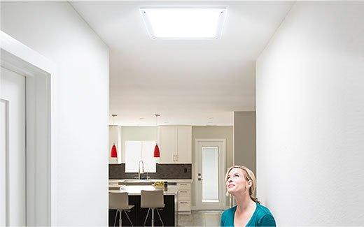 Instalace světlovodu série Solatube Brighten Up® v obytné místnosti